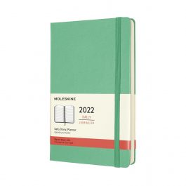 Moleskine 2022 Daily 12 Month Large Diary Ice Green Hard Cover