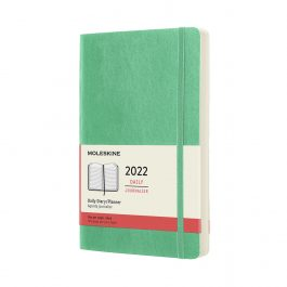 Moleskine 2022 Daily 12 Month Large Diary Ice Green Soft Cover