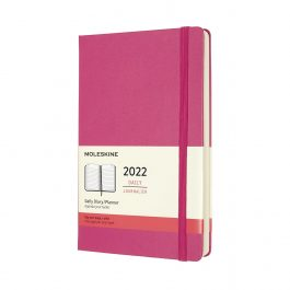 Moleskine 2022 Daily 12 Month Large Diary Bougainvillea Pink Hard Cover