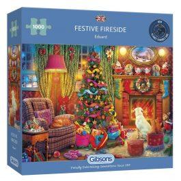 Gibsons Jigsaw Festive Fireside 1000 Piece Puzzle